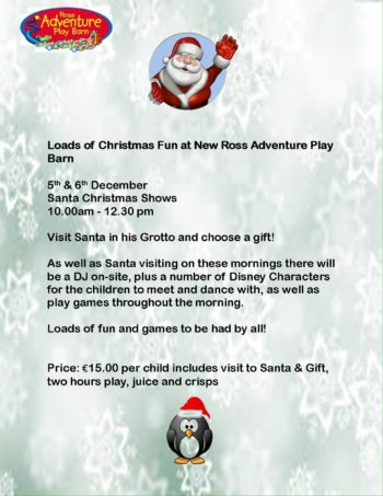 loads of christmas fun at new ross adventure play barn visit santa in his grotto and choose a gift from his sack games dancing and a chance to meet some - Ross Christmas Hours