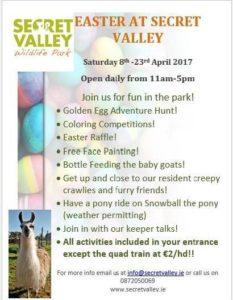Secret Valley Easter events 2017