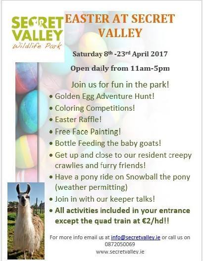 Secret Valley Easter events 2017